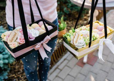 macaron-virág box