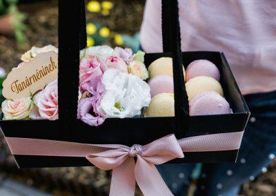 macaron-virág táska